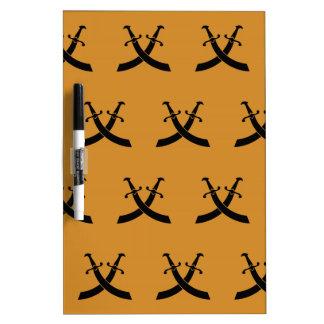 Swords Black Orange Dry-Erase Boards