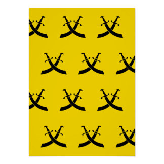 Swords Black Yellows Posters