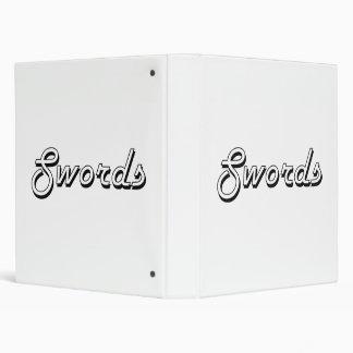 Swords Classic Retro Design Binder