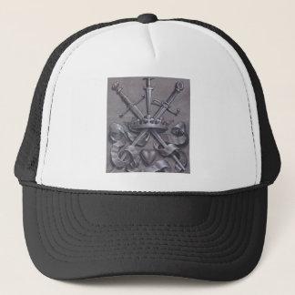 Swords Crown and Heart Trucker Hat