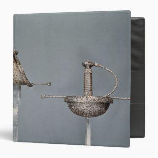Swords: cup-hilted rapier of chiselled steel binders