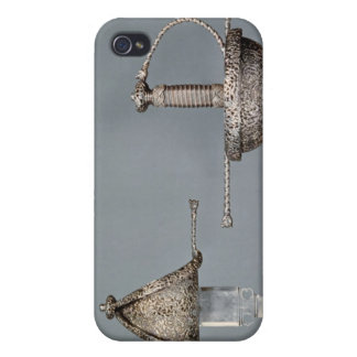 Swords: cup-hilted rapier of chiselled steel iPhone 4 cases
