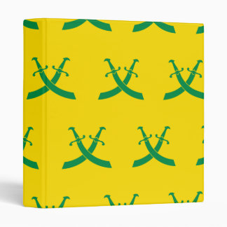 Swords Greens and Yellows Vinyl Binder