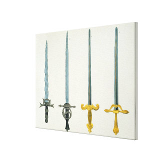 Swords, plate from 'A History of the Development a Canvas Print