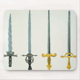 Swords, plate from 'A History of the Development a Mouse Pad