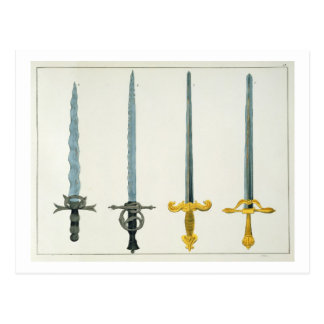 Swords, plate from 'A History of the Development a Postcard