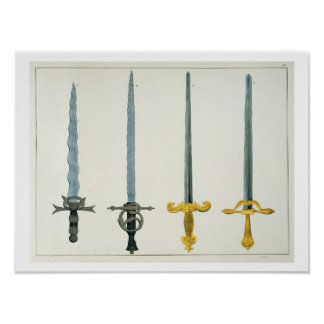 Swords, plate from 'A History of the Development a Poster