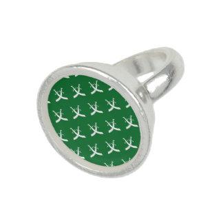 Swords White Green Ring