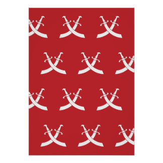 Swords White light red Posters