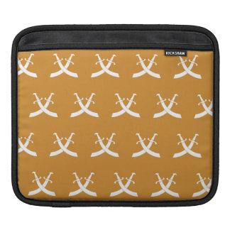 Swords White Orange iPad Sleeve