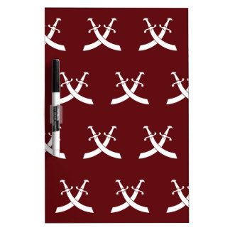 Swords White Red Dry-Erase Boards