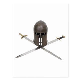 SwordsCrossedHelm061209 Postales
