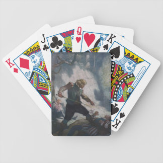 Swordsmen on a Cliff Bicycle Playing Cards