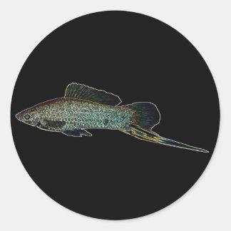Swordtail glowing sticker