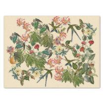 Swordtail Hummingbird Birds Flowers Tissue Paper