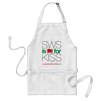 ¡SWS es el Galés para el beso! Delantal