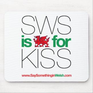 ¡SWS es el Galés para el beso! Mousepad