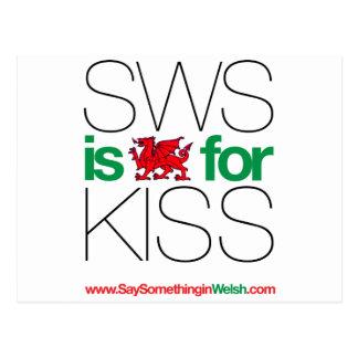 ¡SWS es el Galés para el beso! Postal