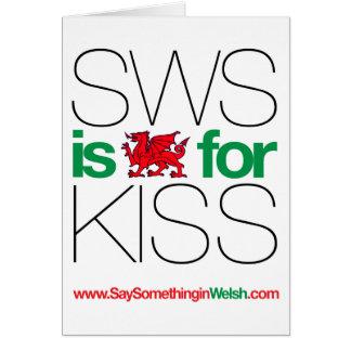 ¡SWS es el Galés para el beso! Tarjeta De Felicitación