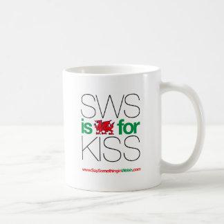 ¡SWS es el Galés para el beso! Taza