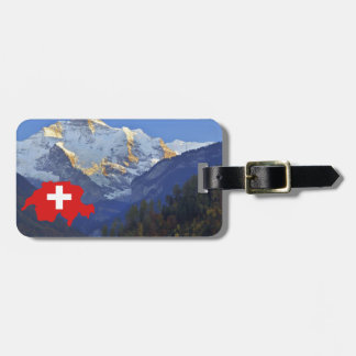 Swtzerland Jungfrau and flag Bag Tag