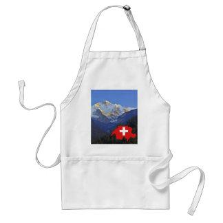 Swtzerland Jungfrau y bandera Delantal