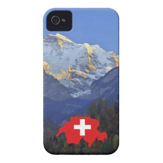 Swtzerland Jungfrau y bandera iPhone 4 Case-Mate Carcasa