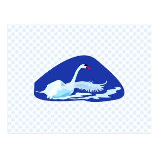 Swurreal Swan Postcard
