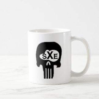 sXe Skull Classic White Coffee Mug