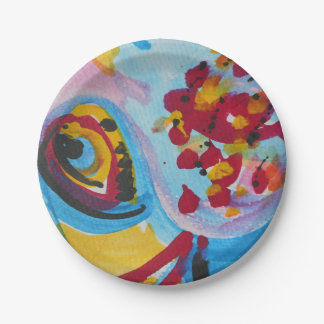 """Sxisma placa de papel """"de los pescados"""" (7"""") platos de papel"""