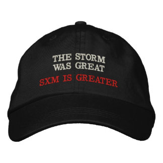 SXM IS GREATER EMBROIDERED BASEBALL CAP