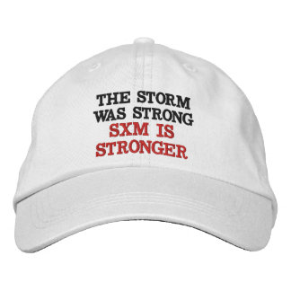 SXM IS STRONGER EMBROIDERED BASEBALL CAP