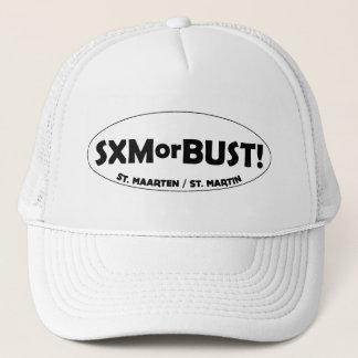 SXMorBUST LOGO TRUCKER HAT - WHITE