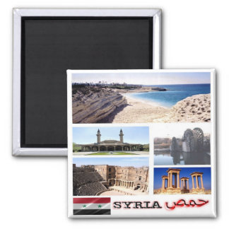 SY - Syria - Collage Mosaic Magnet