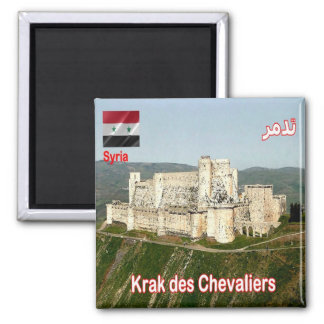 SY - Syria - Krak des Chevaliers 2 Inch Square Magnet