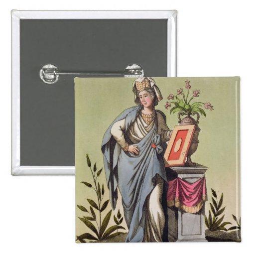 """Sybil de Cumae, no. 16 de """"Roma antigua"""", engrav Pins"""