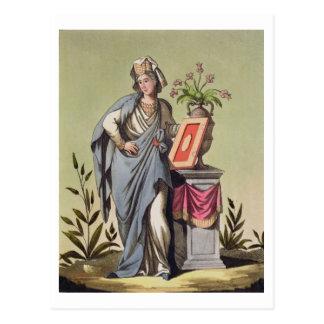 "Sybil de Cumae, no. 16 de ""Roma antigua"", engrav Tarjetas Postales"
