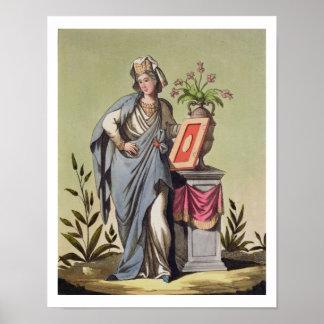 Sybil of Cumae, No. 16 from 'Antique Rome', engrav Poster