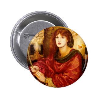 Sybilla Palmifella (The Soul's Beauty) Pinback Button
