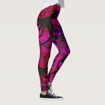 Sybille's Octopus On Hot Pink - Leggings