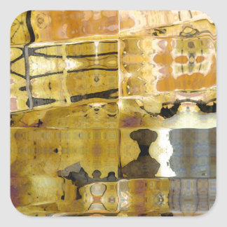 Sycamore Alley Abstract Square Sticker