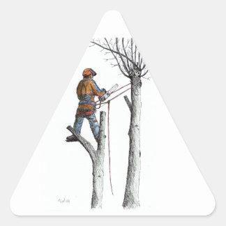 Sycamore and stihl 020t triangle sticker