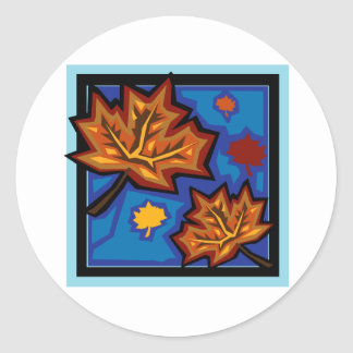 Sycamore Leaves Classic Round Sticker