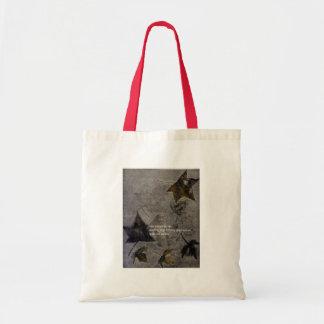 Sycamore Leaves Haiku Budget Tote Bag