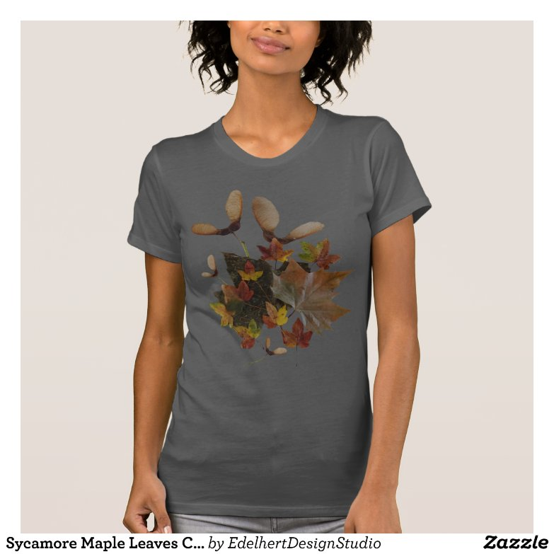 Sycamore Maple Leaves Collage T-Shirt
