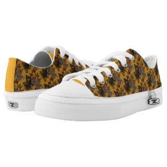 Sycamore Maple Leaves Pattern Low Top Shoes