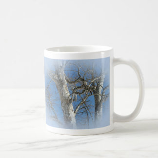 Sycamore Tree Against Winter Sky Items Classic White Coffee Mug