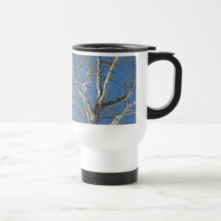 Sycamore Tree Against Winter Sky Items 15 Oz Stainless Steel Travel Mug