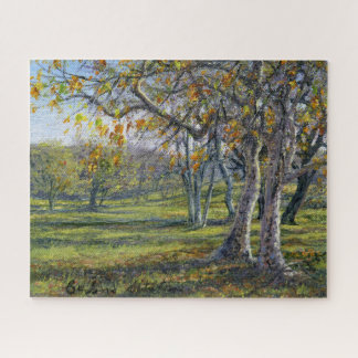 """""""Sycamores in the Fall"""" Jigsaw Puzzle"""
