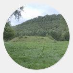 Sycharth - el hogar de Owain Glyndŵr Pegatina Redonda